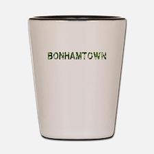 Bonhamtown, Vintage Camo, Shot Glass