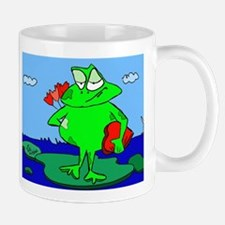 Frog with Valentine Flowers and Candy Mug