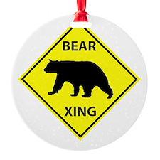 Bear Crossing Ornament