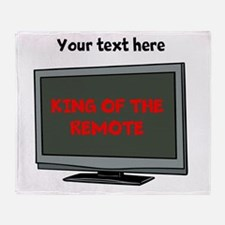 Personalized King of the Remote Throw Blanket