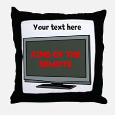 Personalized King of the Remote Items Throw Pillow