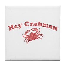 Hey Crabman Tile Coaster