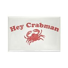 Hey Crabman Rectangle Magnet