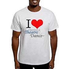I Love Theatre and Dance Light T-Shirt