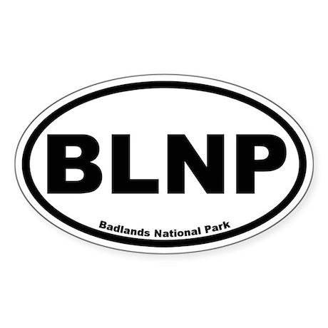 Badlands National Park Oval Sticker