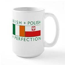 irish polish flags rect Mugs