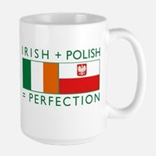 irish polish flags rect Mugs