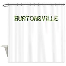 Burtonsville, Vintage Camo, Shower Curtain