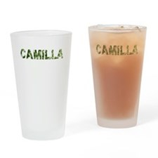 Camilla, Vintage Camo, Drinking Glass