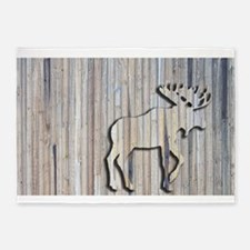 WoodenMooseRug.png 5'x7'Area Rug