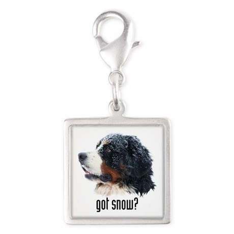 got snow? Silver Square Charm