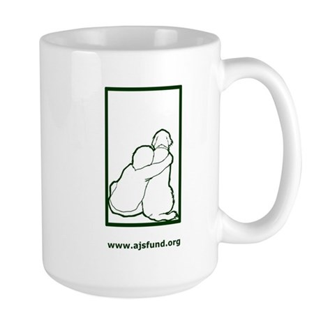 Aidan's Fund Logo (Green) Large Mug