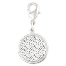 musical Silver Round Charm