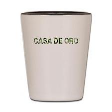 Casa De Oro, Vintage Camo, Shot Glass