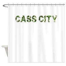Cass City, Vintage Camo, Shower Curtain