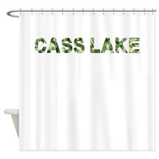 Cass Lake, Vintage Camo, Shower Curtain