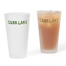 Cass Lake, Vintage Camo, Drinking Glass