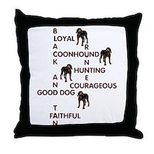 black and tan crossword Throw Pillow
