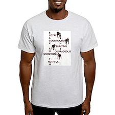 black and tan crossword Ash Grey T-Shirt