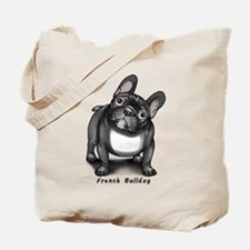 Cute French bulldog pied Tote Bag