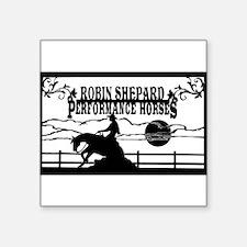 "rsph barn sign black Square Sticker 3"" x 3"""