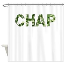 Chap, Vintage Camo, Shower Curtain