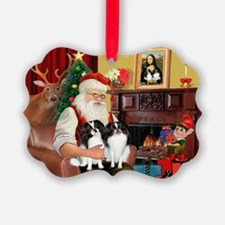 Cute Japanese chin dogs Ornament