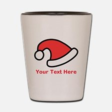 Santa Hat Picture and Text. Shot Glass