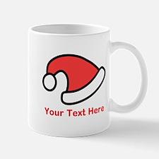 Santa Hat Picture and Text. Mug