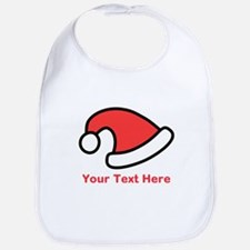 Santa Hat Picture and Text. Bib