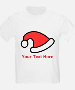 Santa Hat Picture and Text. T-Shirt