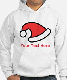 Santa Hat Picture and Text. Hoodie