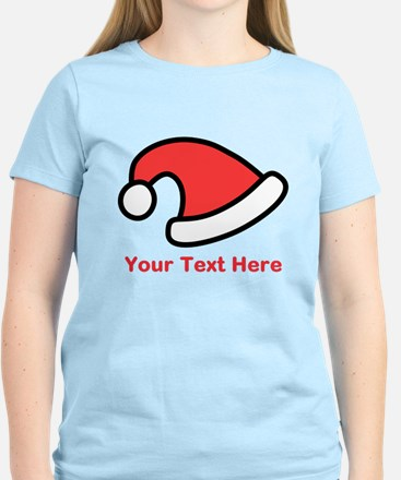 Santa Hat Picture and Text. Women's Light T-Shirt
