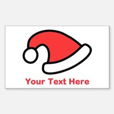 Santa Hat Picture and Text. Decal