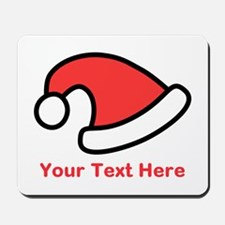 Santa Hat Picture and Text. Mousepad