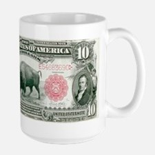 $10 Bison Note Large Mug