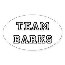 Team Barks Decal