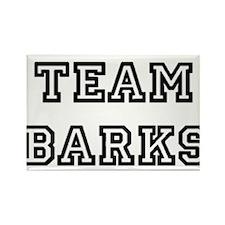 Team Barks Rectangle Magnet