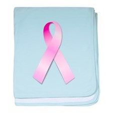 Breast Cancer Awareness Pink Ribbon baby blanket