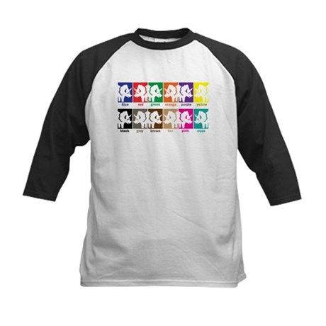 Dinosaur Colors Kids Baseball Jersey