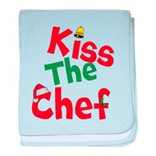 Kiss The Chef baby blanket