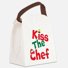Kiss The Chef Canvas Lunch Bag