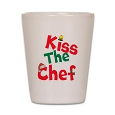 Kiss The Chef Shot Glass