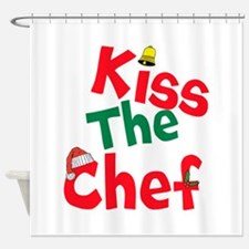 Kiss The Chef Shower Curtain