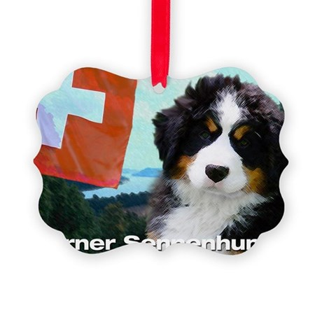 Berner Sennenhunde Picture Ornament