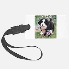 Mia Soccer Puppy Luggage Tag