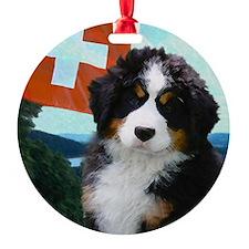 Swiss Berner Puppy Ornament