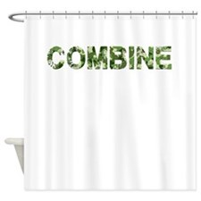 Combine, Vintage Camo, Shower Curtain