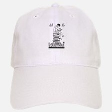 Reading Girl atop books Baseball Baseball Cap