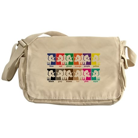 Dinosaur Colors Messenger Bag